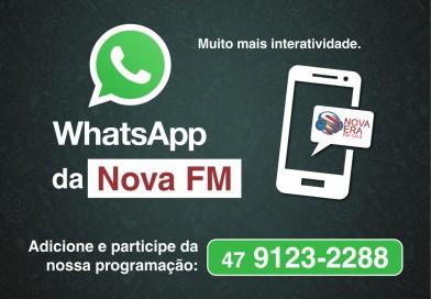 WhatsApp da rádio Nova Era FM