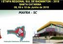 Mafra vai sediar a 1° Etapa Regional Sul de Badminton