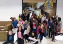 Cerca de 80 alunos de escola municipal visitam a PRF e recebem orientações sobre trânsito em Mafra