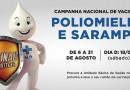 Dia D de mobilização contra o sarampo e pólio é neste sábado, dia 18