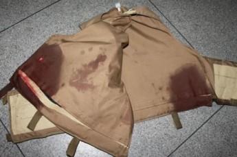 Foto: Polícia Civil de SC - Colete do Policial atingido