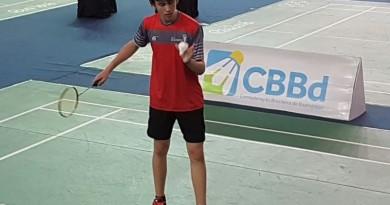 Lucas Arten é vice-campeão Brasileiro de Badminton