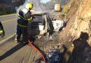 Incêndio em um veículo na BR-280