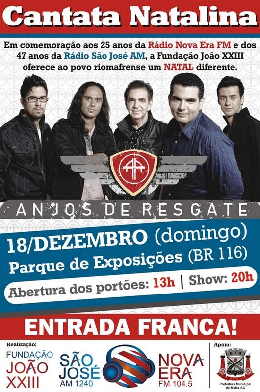 Rádios Nova Era FM e São José AM trazem a banda Anjos de Resgate para Mafra (2)